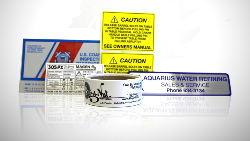 Industrial Labels.